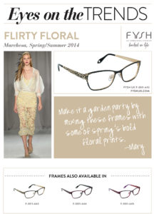 Mary Kitchen, Eyes On The Trends, Trends, S/S, Spring, Summer, Fashion, Fashion 4 your face, fashion for your face, eyes, eyewear, toronto, los angeles, nyc, Marchesa