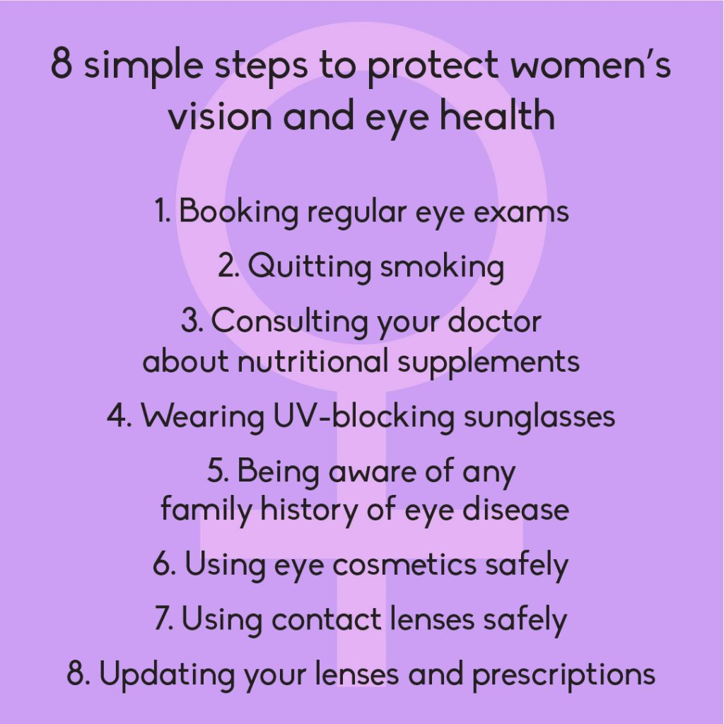 8 simple steps to protect women's vision and eye health
